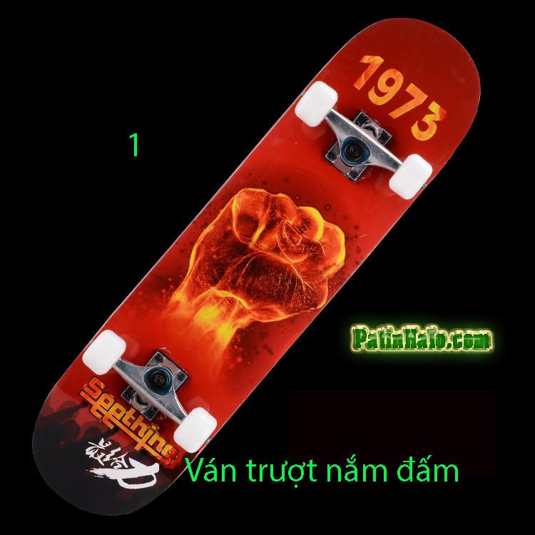 Ván Trượt skateboard nắm đấm