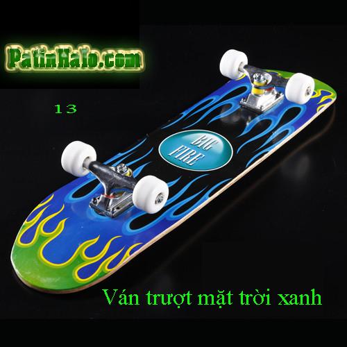 Ván Trượt skateboard  mặt trời xanh
