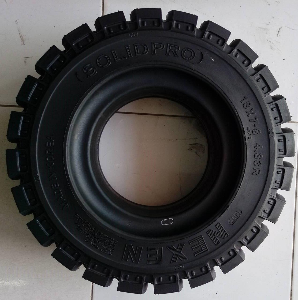 lốp đặc xe nâng Nexen 18x7-8, độ bền cao, bảo hành dài hạn