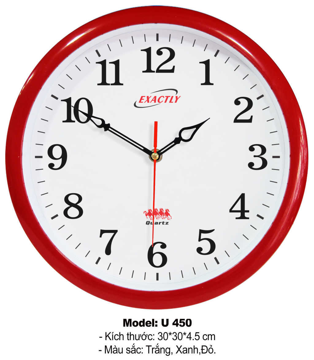 sản xuất đồng hồ treo tường giá rẻ U450