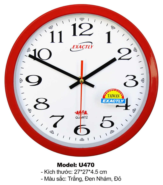Sàn xuất đồng hồ treo tường nhỏ giá rẻ U470