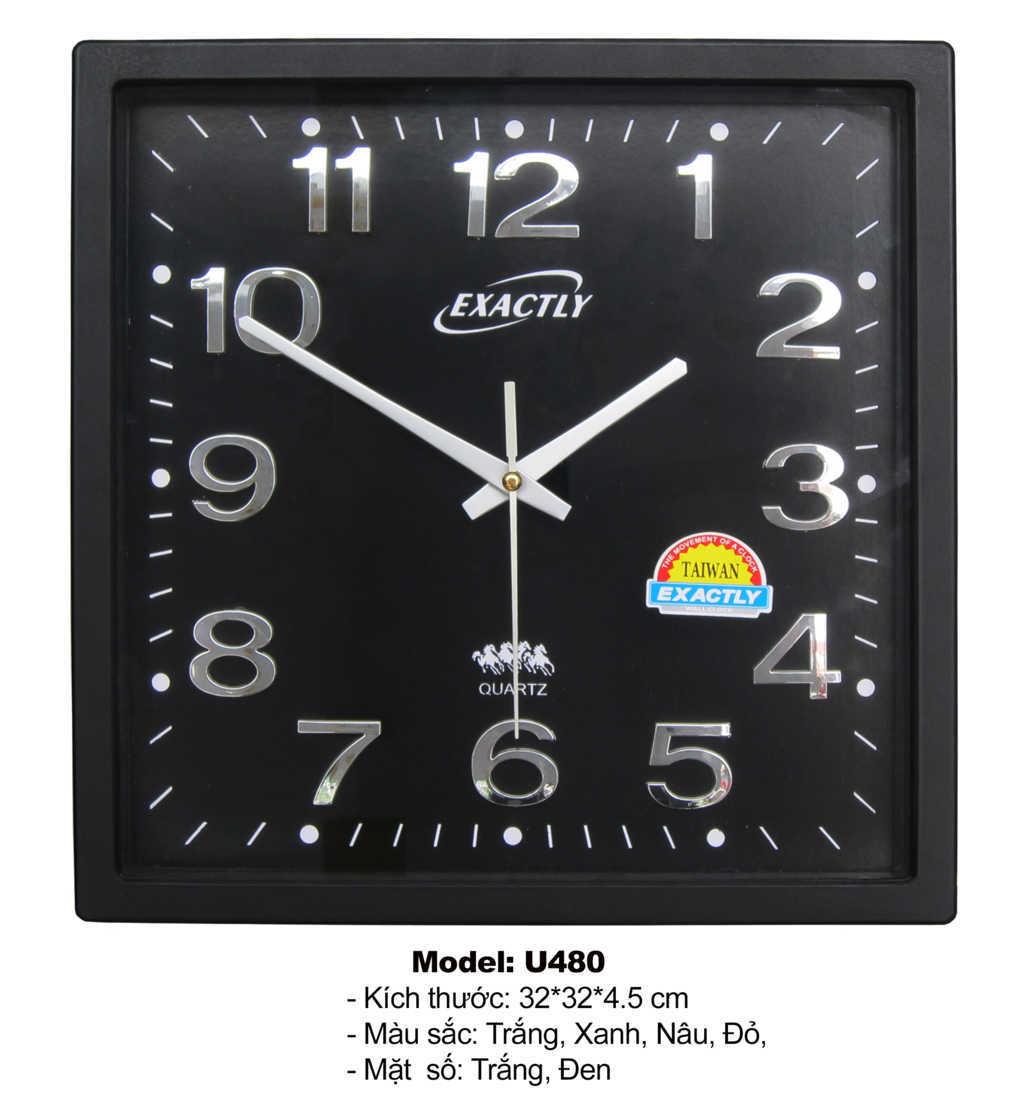 Model U480 Mặt Đen | đồng hồ sang trọng giá rẻ