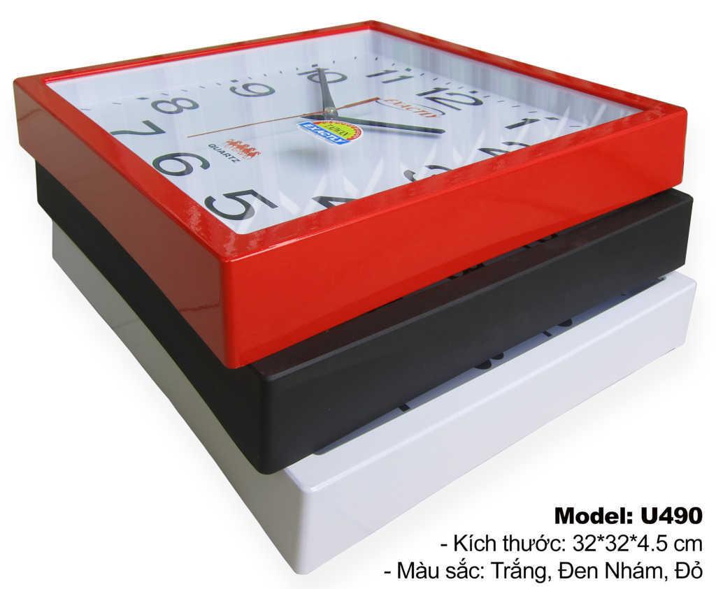 Đồng hồ treo tường U490 | đồng hồ sang trọng giá rẻ