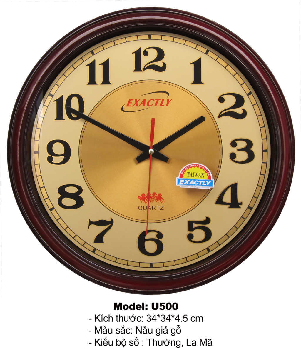 Đồng hồ treo tường U500 | đồng hồ sang trọng giá rẻ