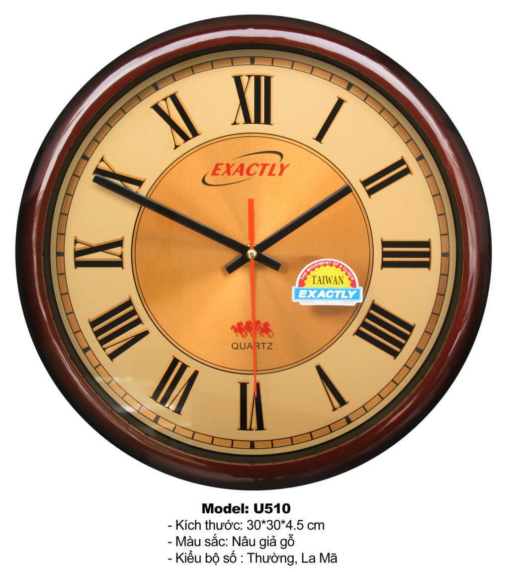 Đồng hồ treo tường U510 | đồng hồ sang trọng giá rẻ