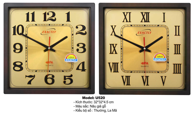 Đồng hồ treo tường U520 | đồng hồ sang trọng giá rẻ