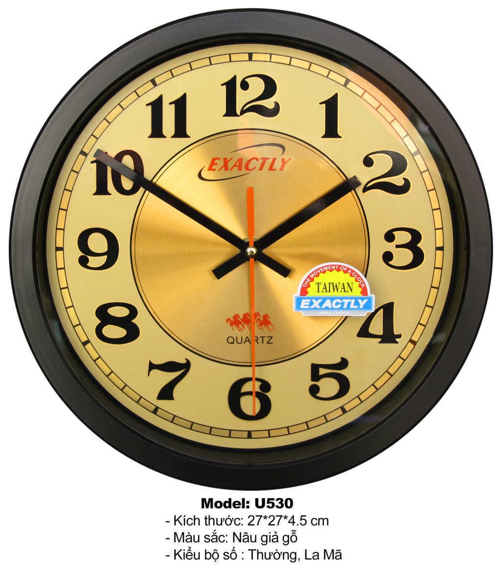 Đồng hồ treo tường kim loại cao cấp U530