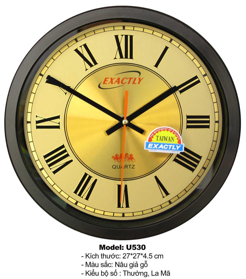 đồng hồ treo tường cao cấp U530