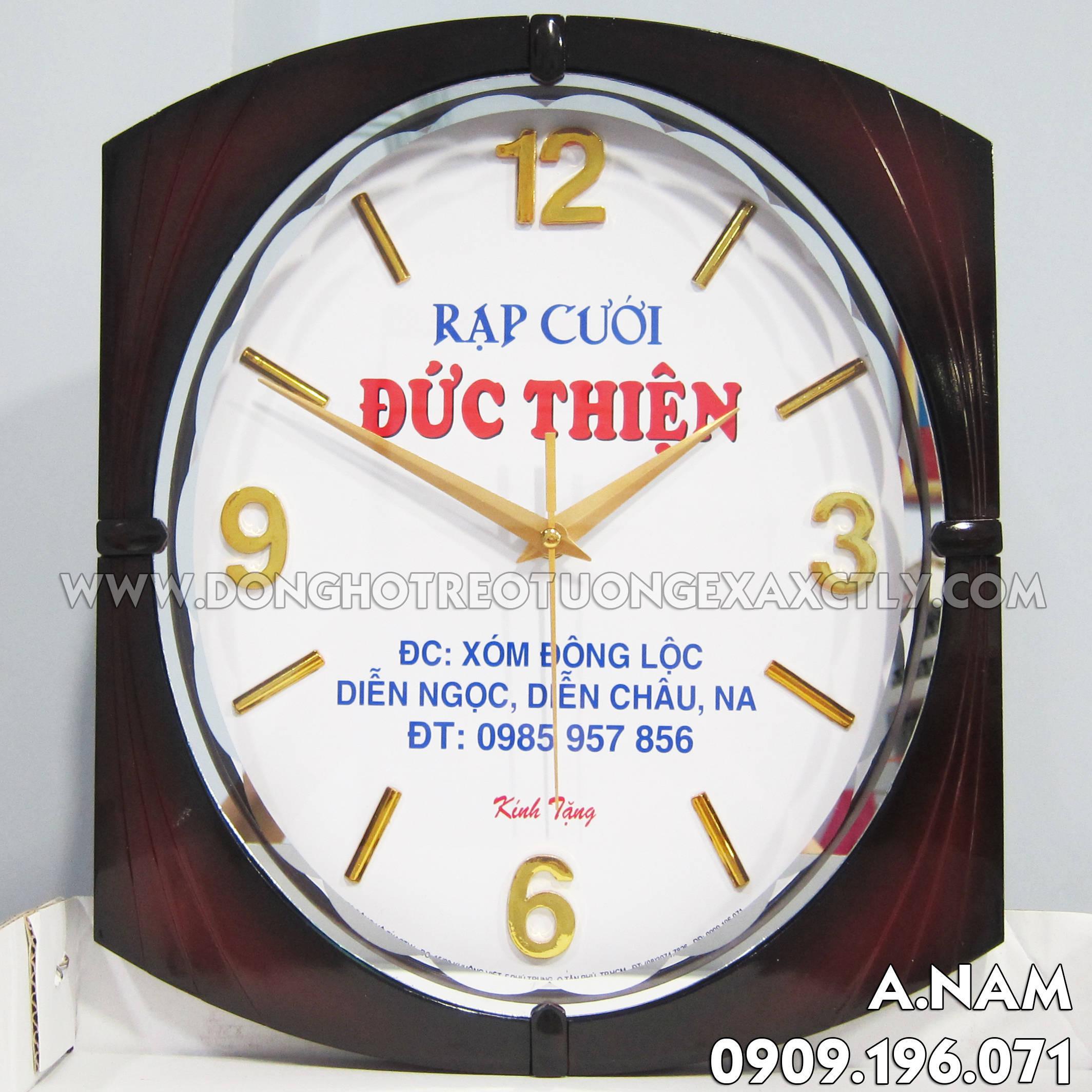 đồng hồ treo tường quà tặng lễ tiệc rạp cưới đức thiện nghệ an