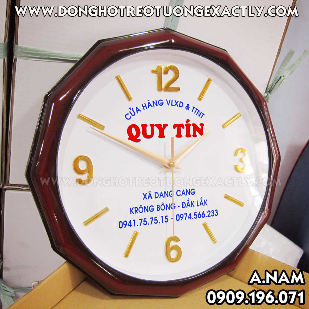 sản xuât Đồng hồ treo tường quà tặng quảng cáo giá rẻ giá sỉ cửa hàng vật liệu xây dựng