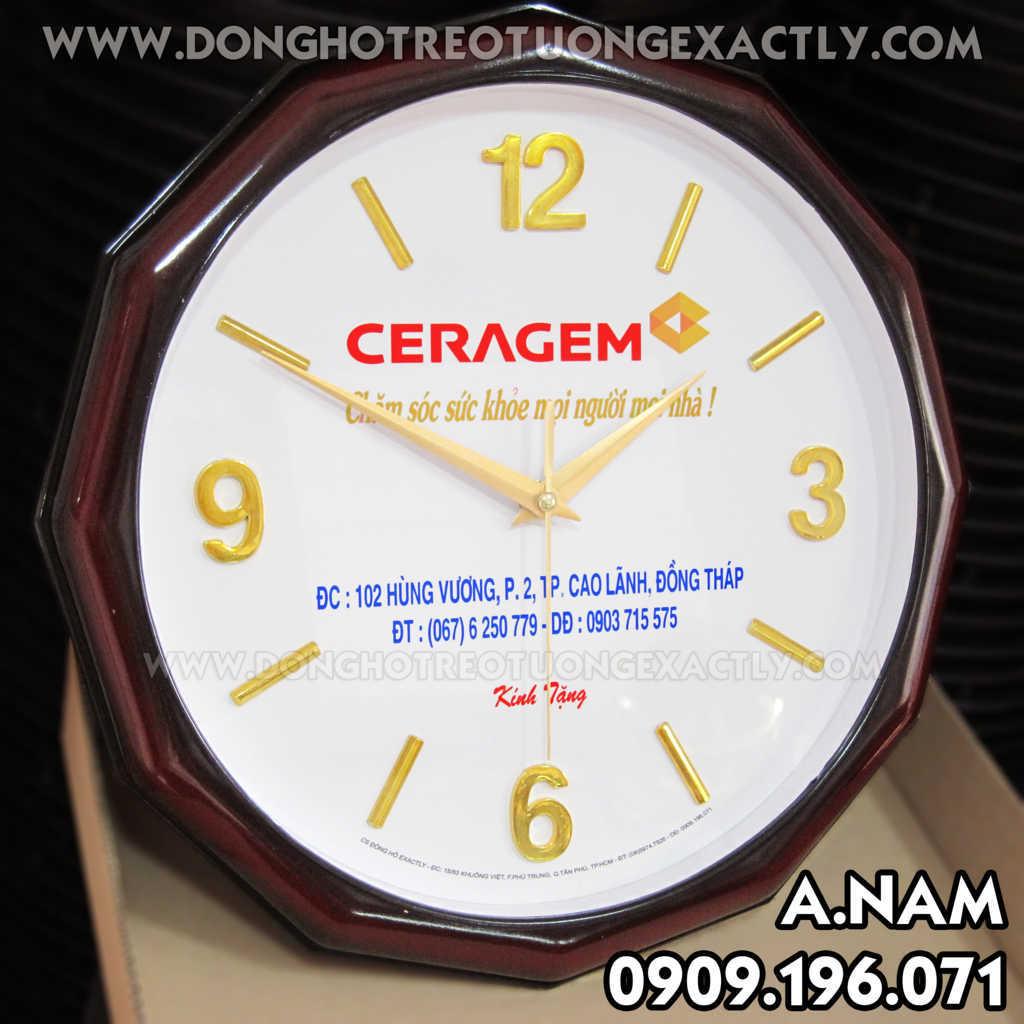 CERAGEN tặng quà đồng hồ treo tường