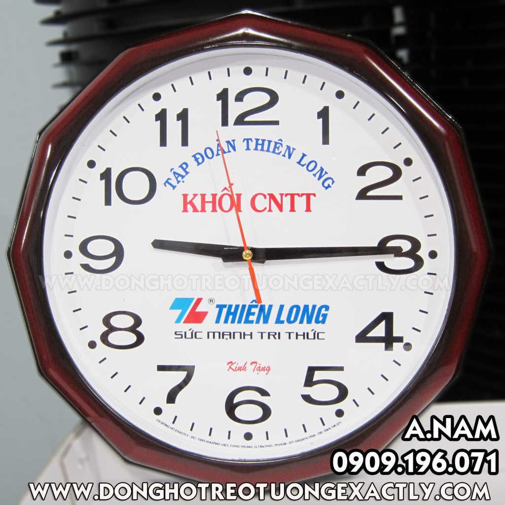 đồng hồ treo tường giá rẻ bút bi thiên long