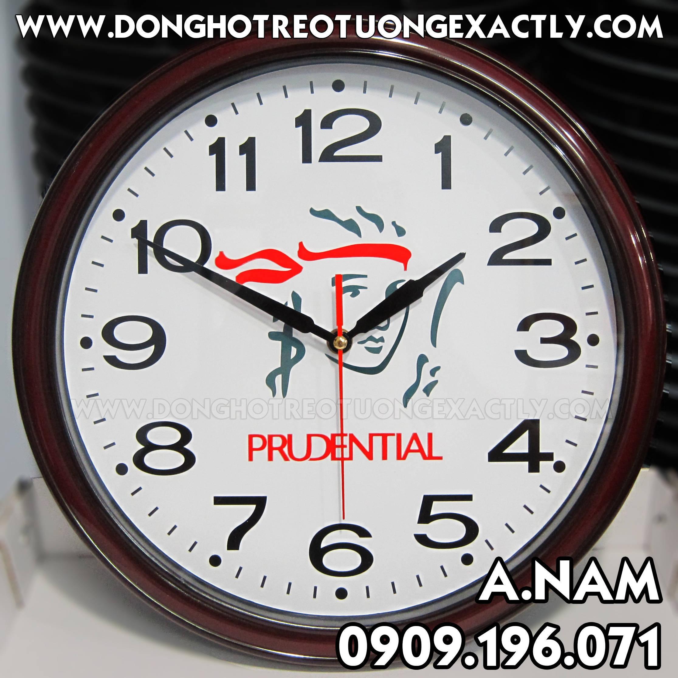 đồng hồ treo tường tặng tri ân khách PRUDENTIAL