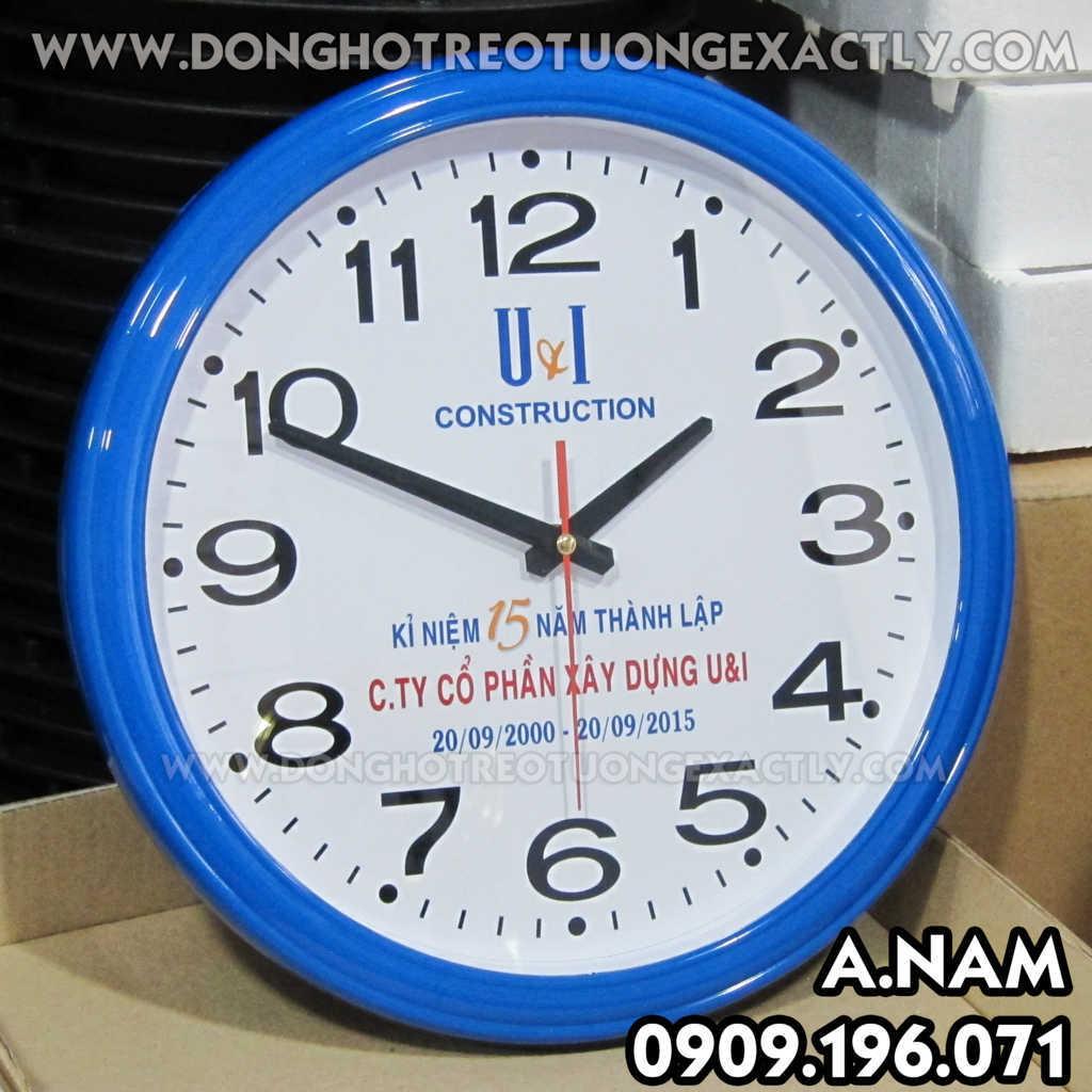 đồng hồ treo tường quà tặng khánh thành lễ xây dựng