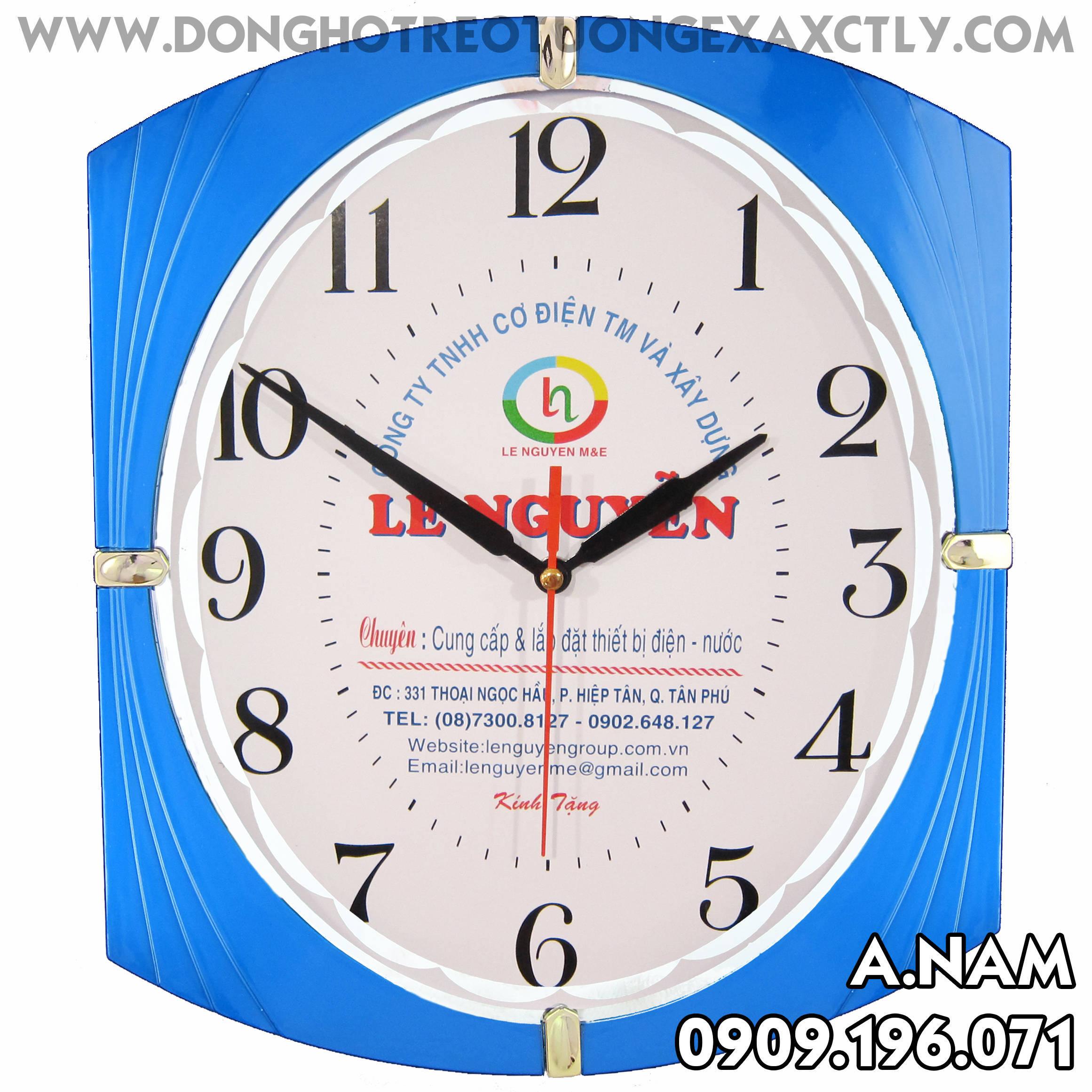 đồng hồ treo tường công ty cơ điện và xây dựng lê nguyễn