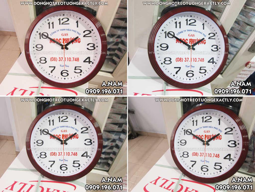 quà tặng đại lý bếp gas giá rẻ đồng hồ treo tường theo yêu cầu