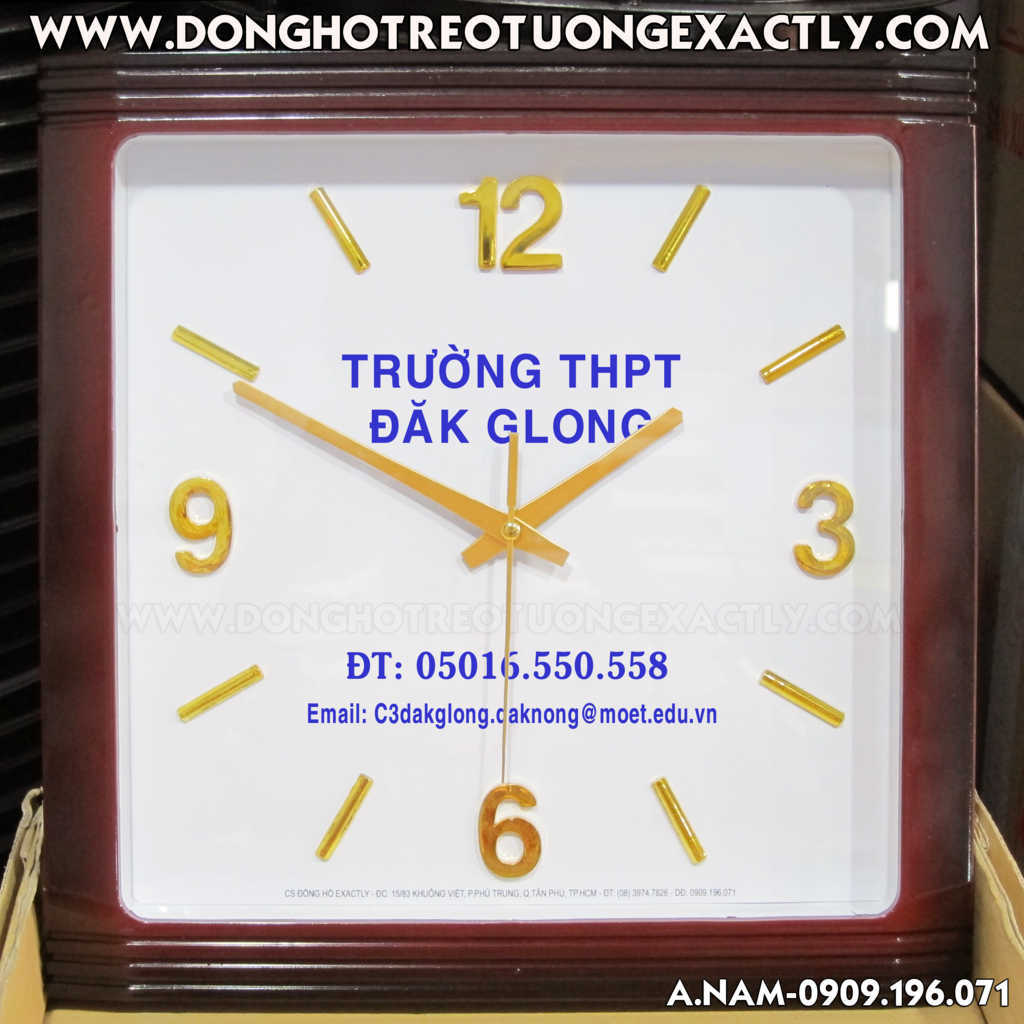 THPT Đăk Glong - dong ho treo tuong