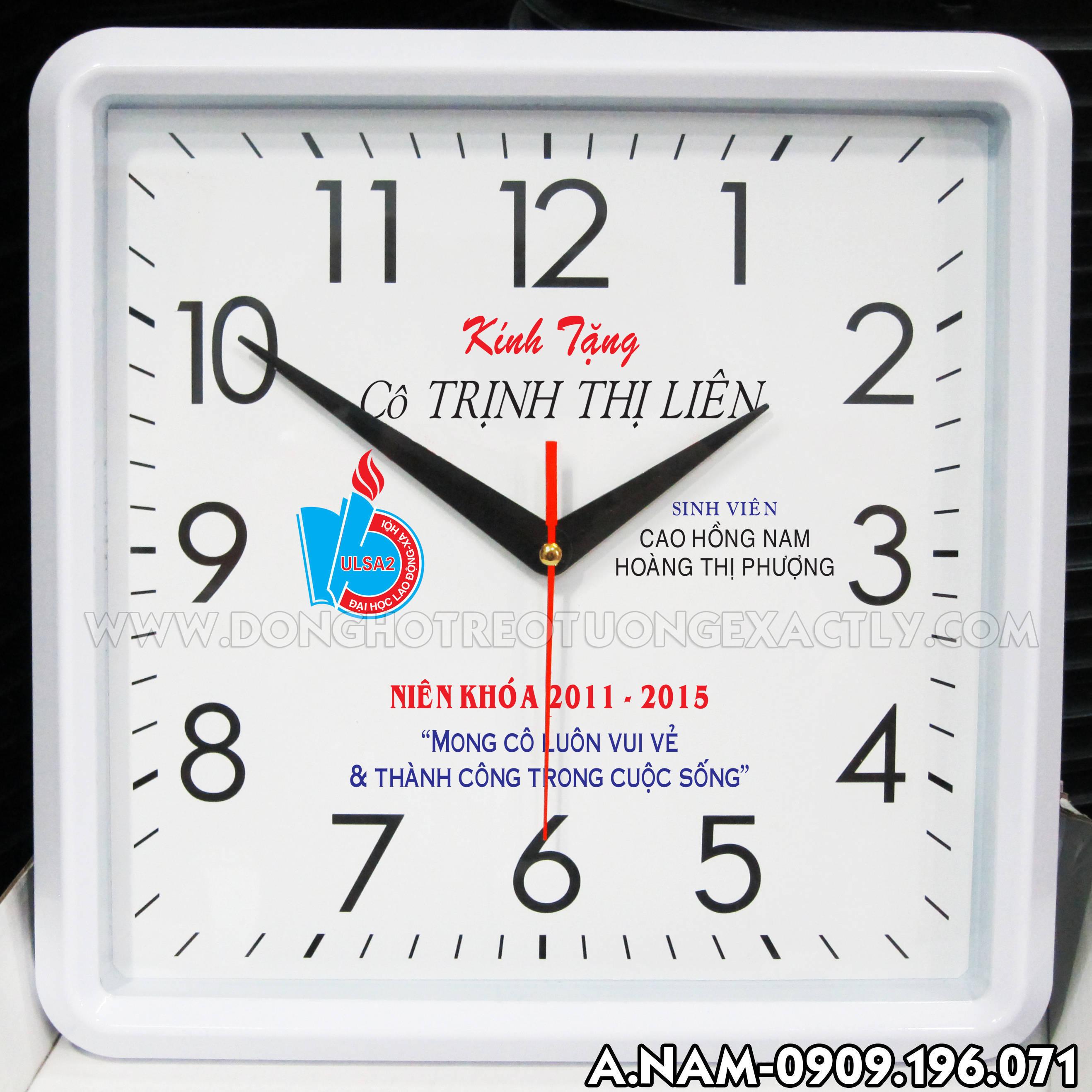 đồng hồ treo tường sinh viên làm quà tặng giáo viên thật ý nghĩa