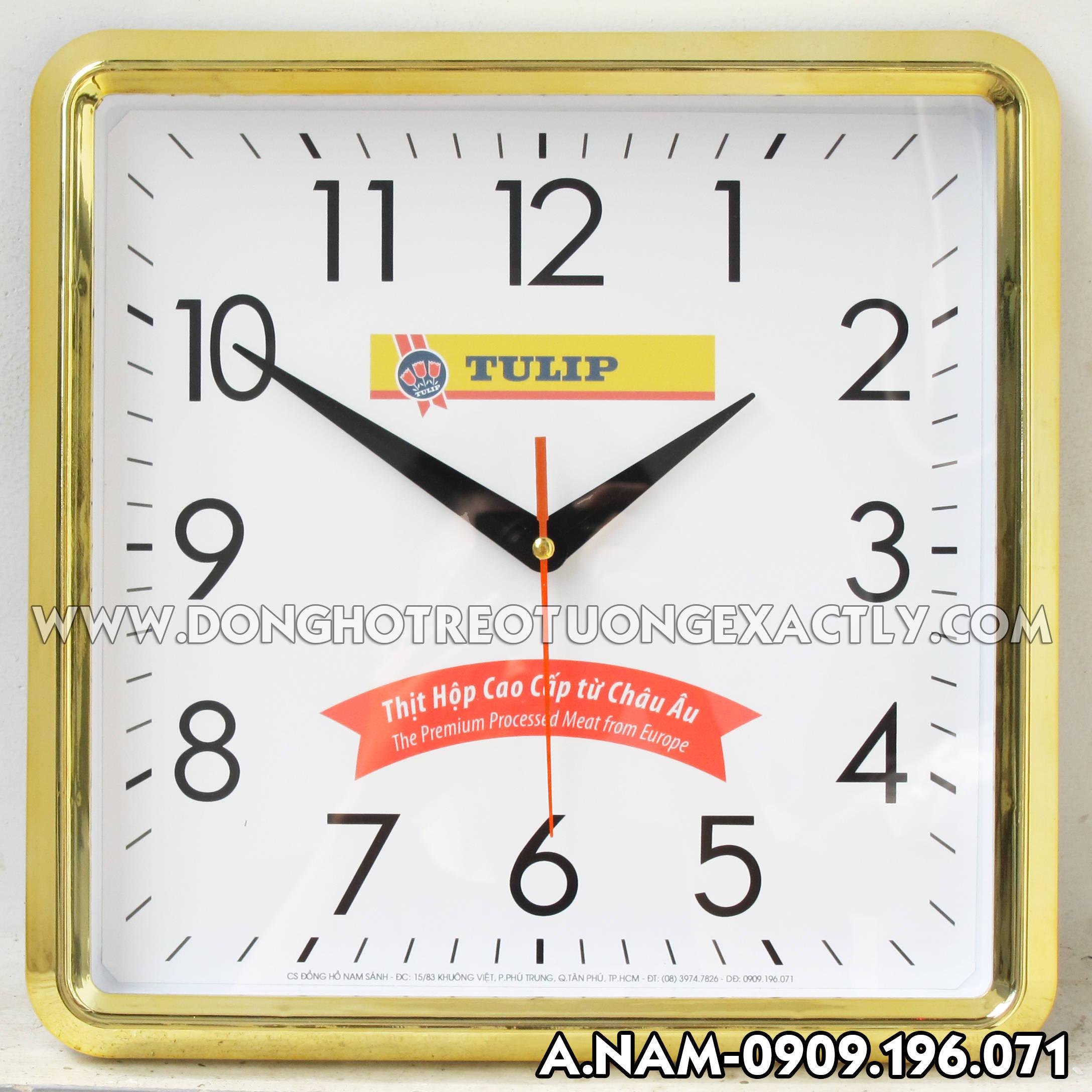 đồng hồ treo tường tặng khách hàng khi mua thịt hộp cao cấp từ châu âu TULIP