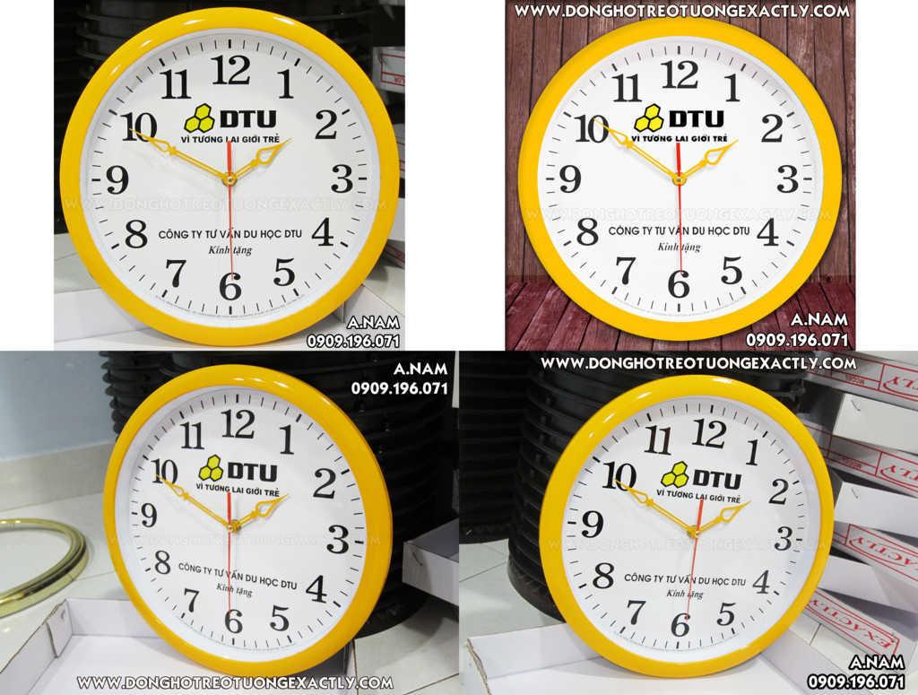 sản xuất đồng hồ treo tường quà tặng giá rẻ Trường DU học mỹ úc DTU
