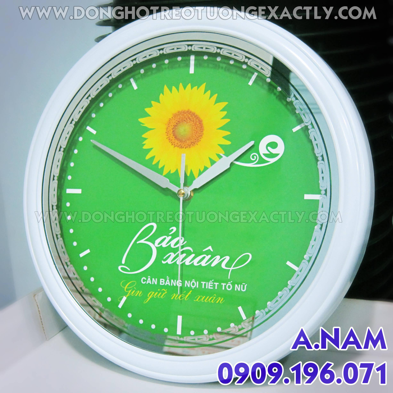 đồng hồ treo tường quà tặng doanh nghiệp Bảo xuân