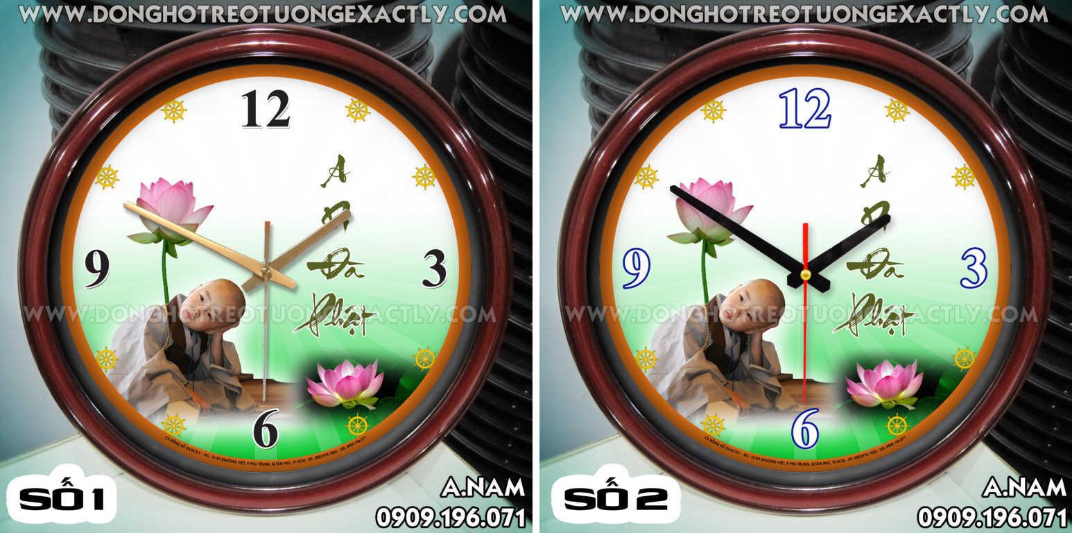 đồng hồ treo tường hình phật nhà chùa từ thiện - dong ho treo tuong hinh phat nha chua tu thien