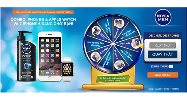 Mua sản phẩm Nivea Men trúng iPhone 6