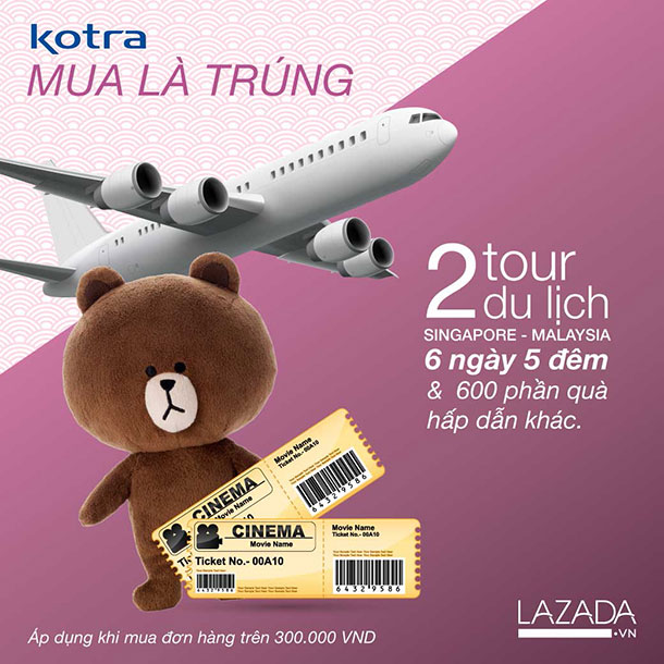 LAZADA giảm giá 15% và nhiều quà tặng khi mua hàng nhập khẩu Hàn Quốc (1 đến 7/7/2015)