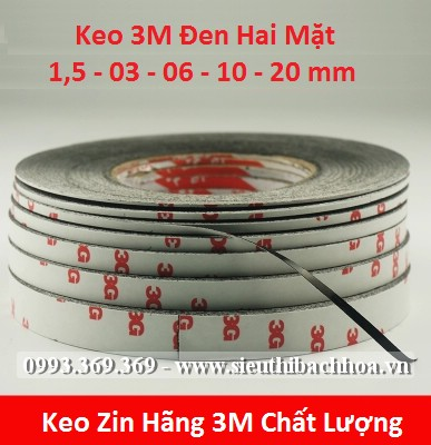 Keo 3M Đen Hai Mặt