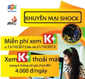 Khuyến mãi K+ trên truyền hình FPT