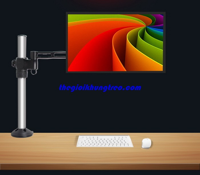 Giá treo monitor đa hướng single tay dài DM-12B