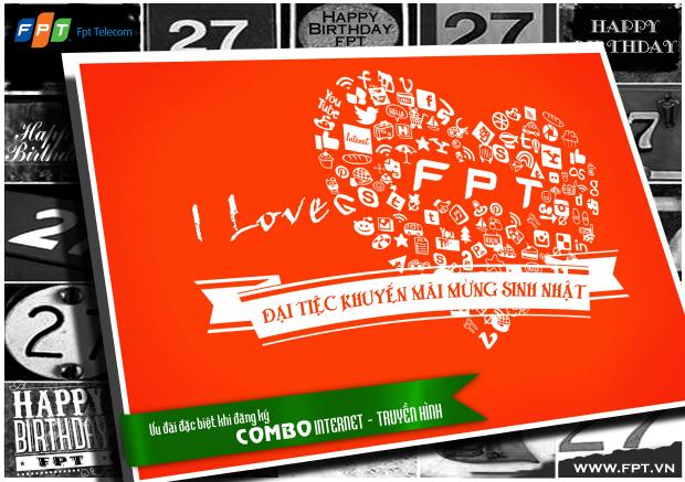 'Đại tiệc Internet - Truyền hình' mừng sinh nhật FPT