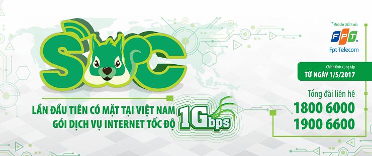 FPT tung ra gói cước internet tốc độ cao nhất tại Việt Nam 1Gbps