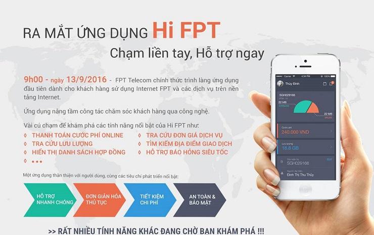 fpt telecom ra mắt ứng dụng hi fpt