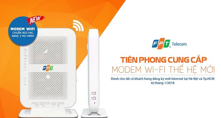 lắp mạng fpt được miễn phí wifi 2 băng tần