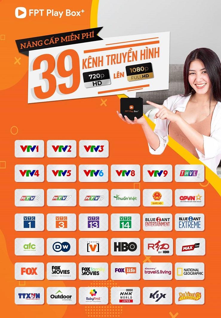 FPT play box nâng cấp 39 kênh truyền hình lên full hd