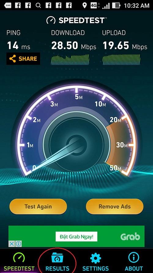 Kiểm tra tốc độ internet bằng điện thoại