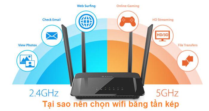 tại sao nên chọn wifi băng tần kép