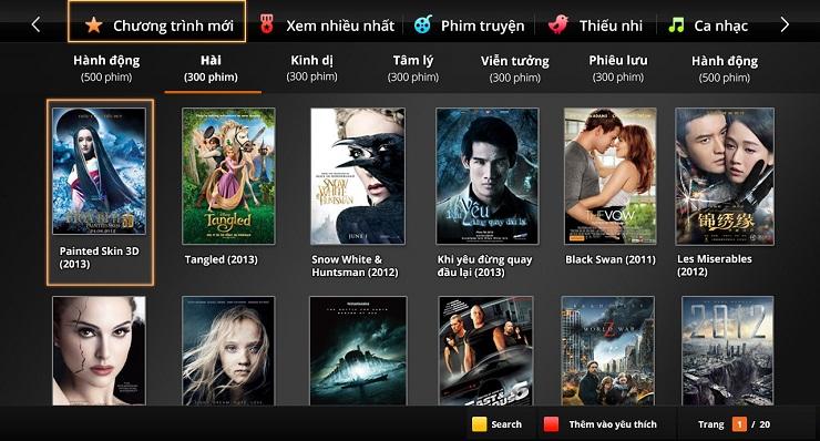 kho phim HD trực tuyến FPT