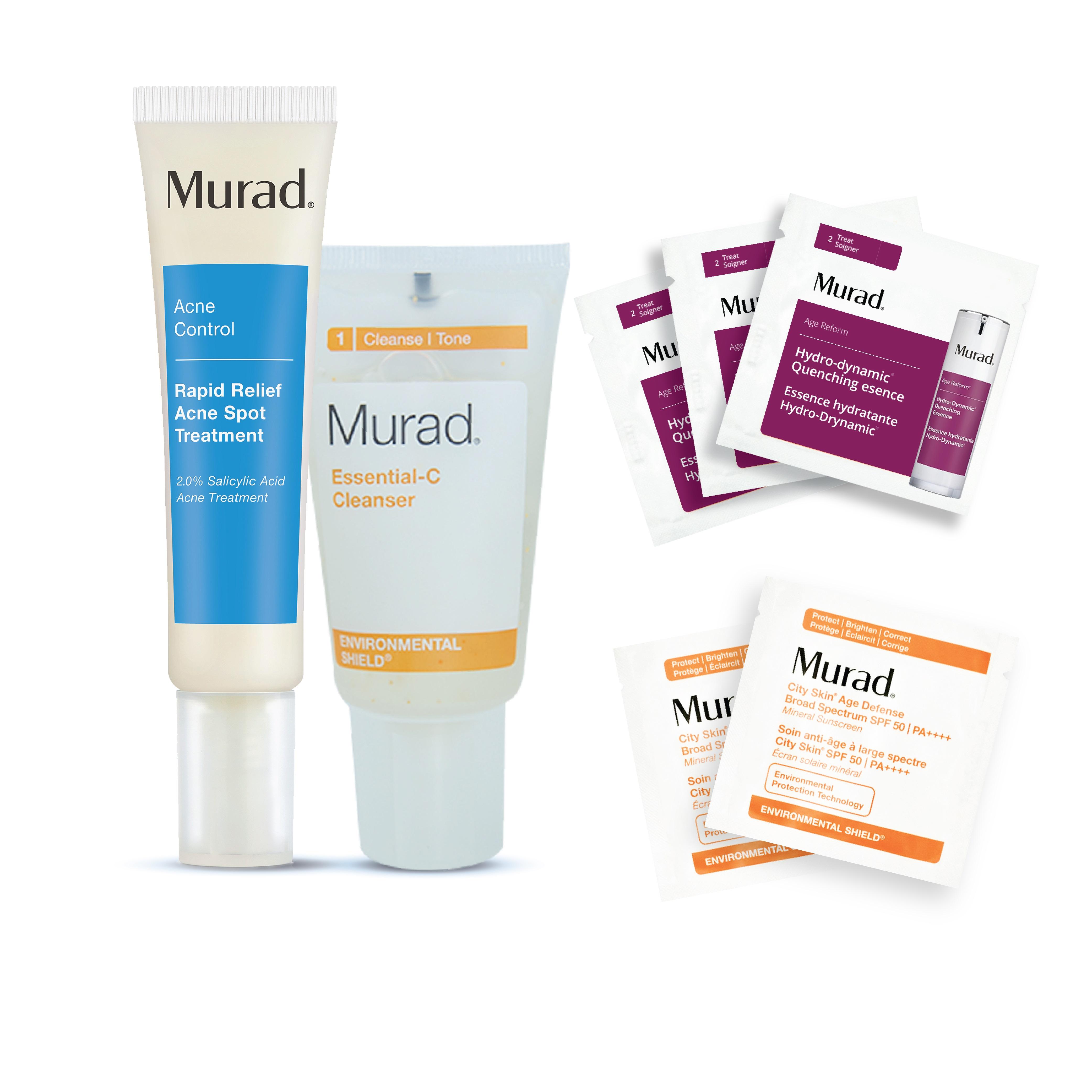 Bộ trị mụn - loại bỏ tạp chất, tăng cường dưỡng ẩm Murad
