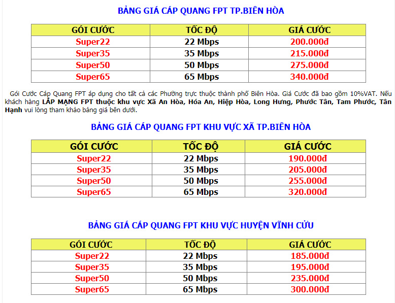 Gói Internet Cáp Quang FPT Đồng Nai