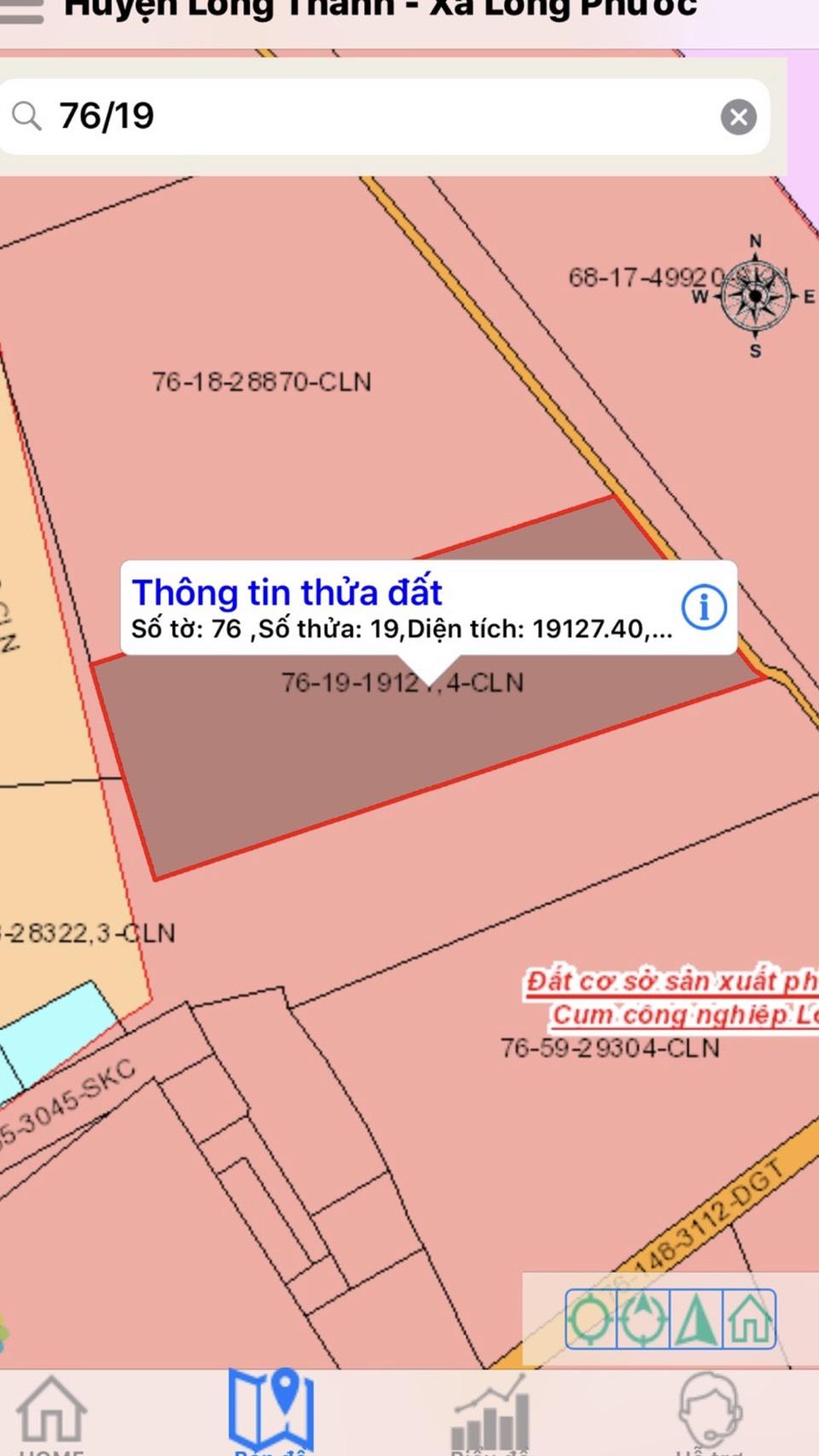 Bán Đất Long Phước, Long Thành, Đồng Nai 20.000m Giá 16 tỷ