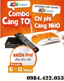 Gói Combo Truyền Hình Internet FPT