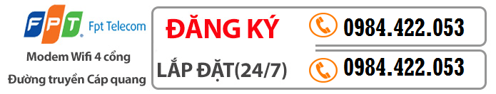 Tổng đài đăng ký cáp quang FPT Tại Tân Mai