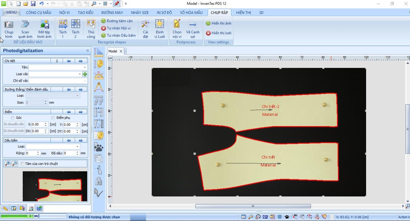 Bảng chụp mẫu treo tường tự động cân chỉnh thông số Inventex Digitizer