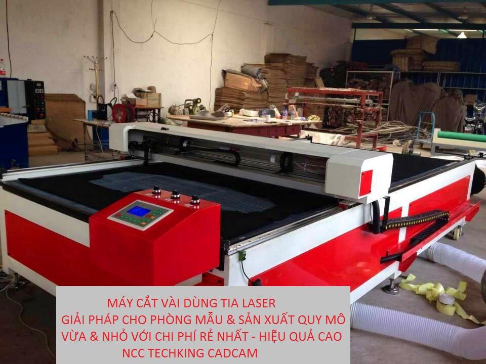Máy cắt vải dùng tia laser khổ lớn cho ngành may mặc