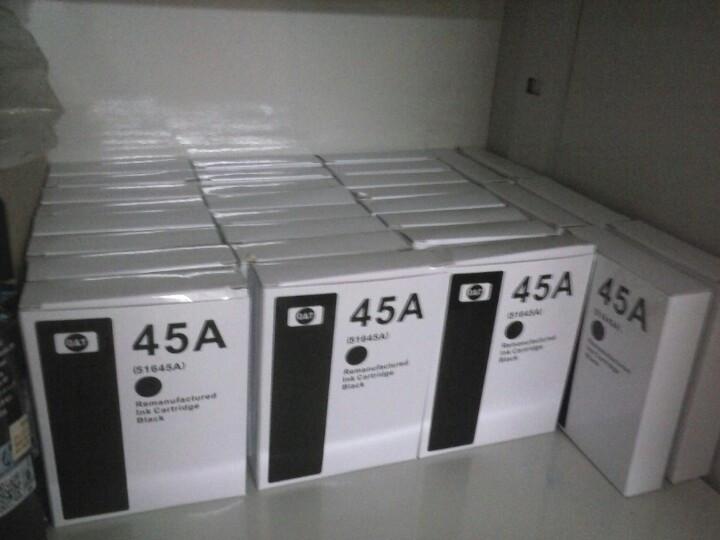 Mực HP45 hộp trắng tem vàng cho máy in sơ đồ