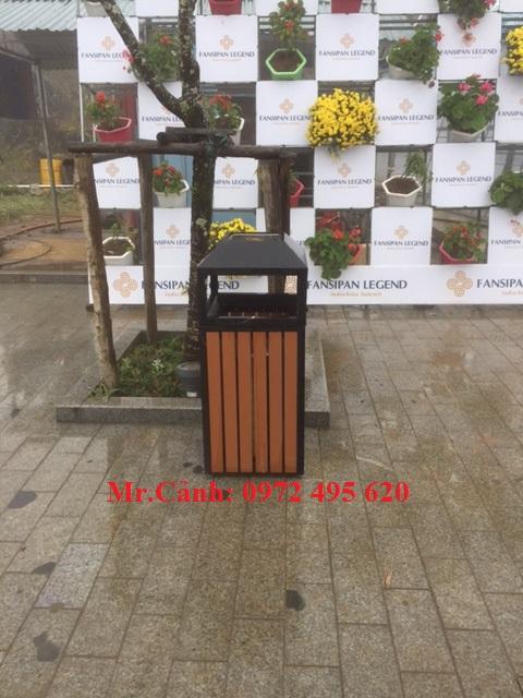 thùng rác ngoài trời A78-D | thung rac ngoai troi