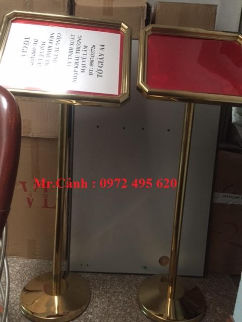 biển menu | biển menu mạ vàng | bien menu mau trang b14