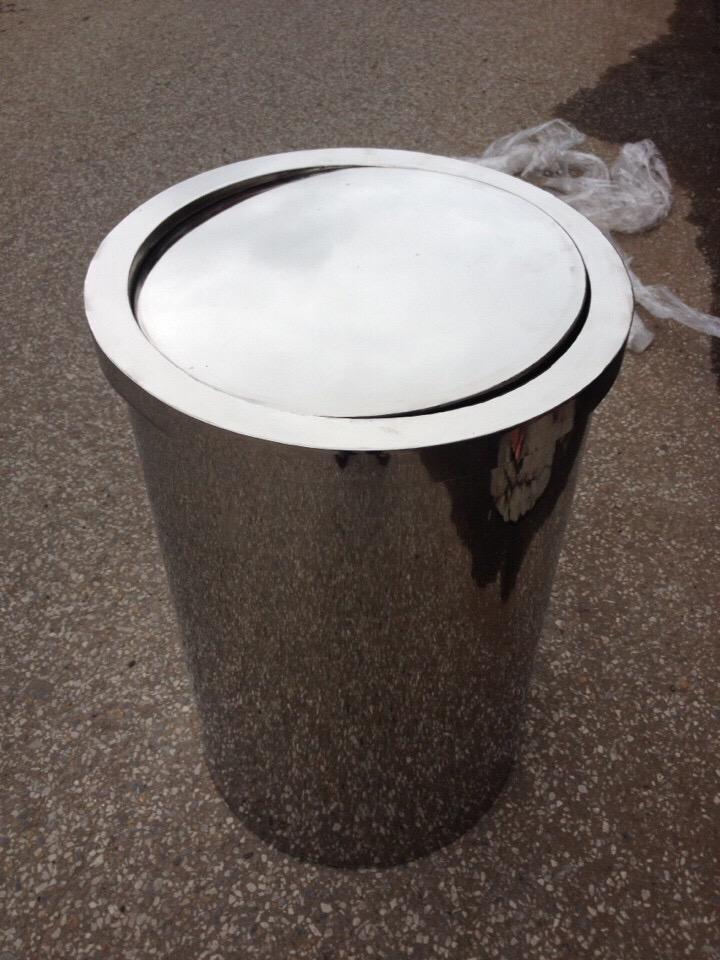 Thùng rác inox nắp lật gia công